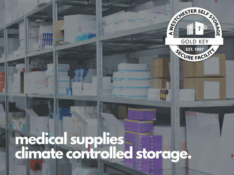 climate controlled med supply storage Bedford