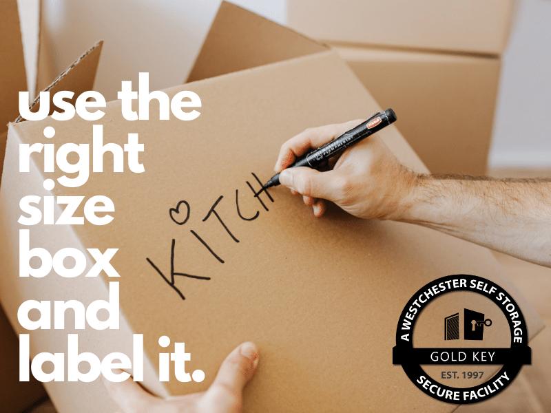 Storage Tips Ossining Use The Right Sized Box